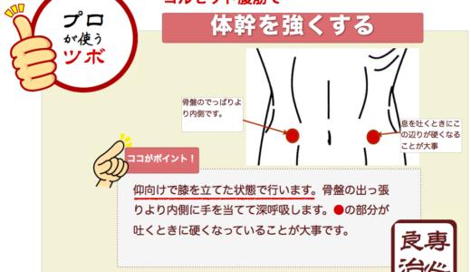 体幹を安定させるコルセット腹筋の入れ方