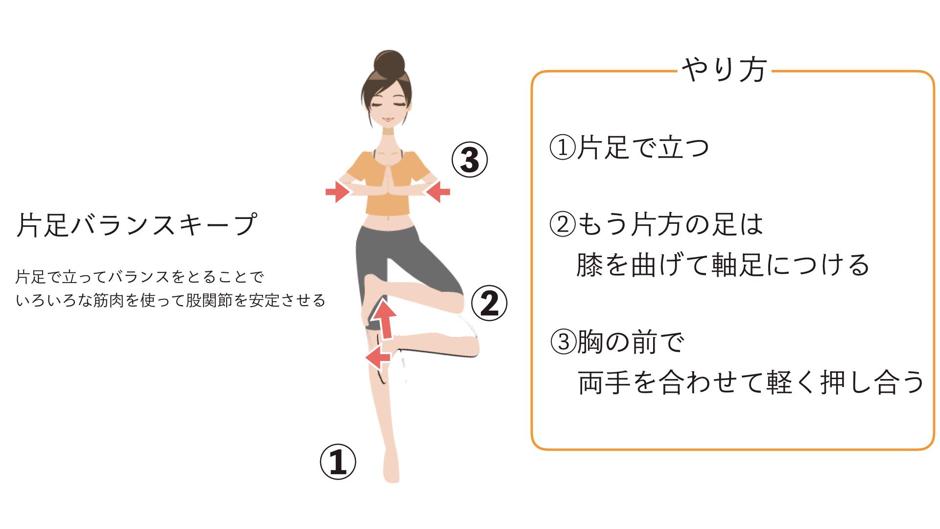 股関節の治療法 片足立ち