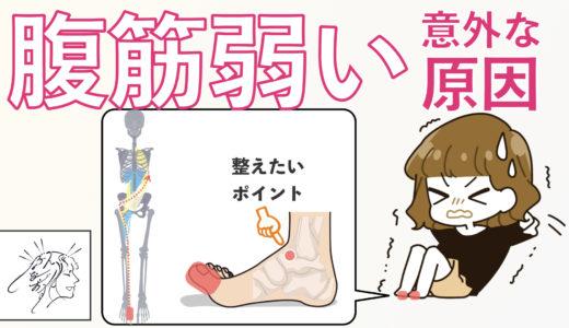 【腹筋が弱い】意外な原因と整えたいポイント・ツボ